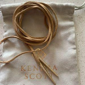 Pierce tan wrap choker- Kendra Scott